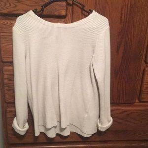 Split back knit sweater
